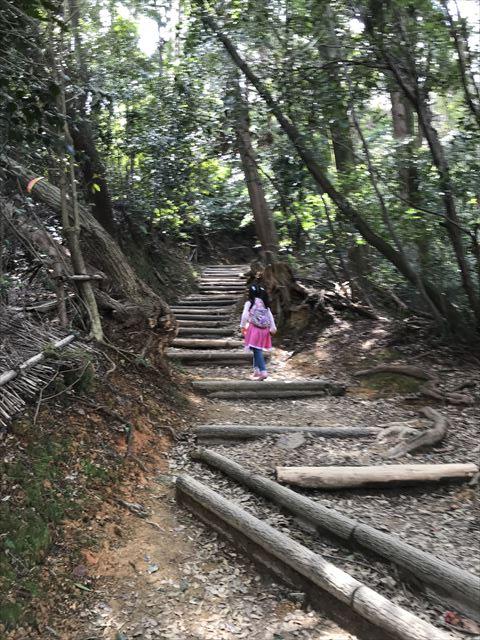 子供が天王山登山の様子