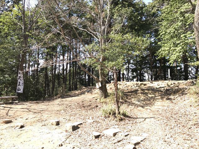天王山山頂と山崎城の名残り