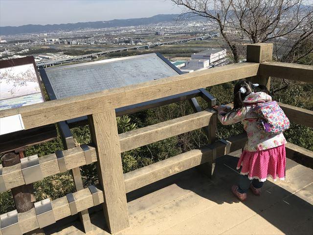 天王山登山「旗立松展望台」の様子