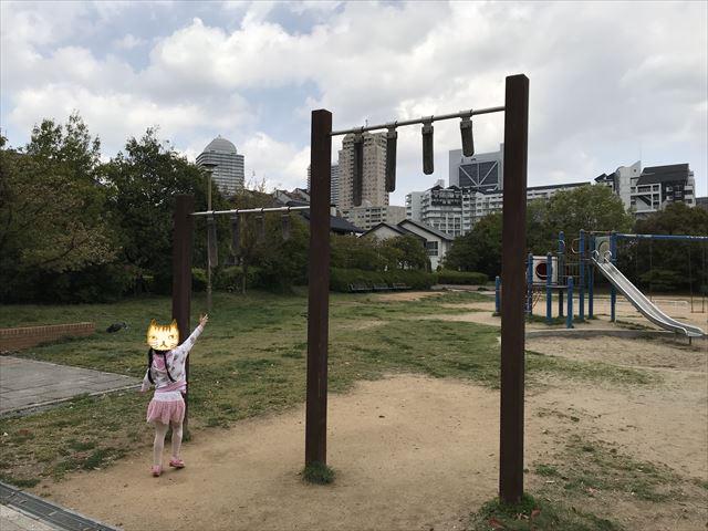 六甲アイランド「向洋町中六丁目公園」背の高い雲梯