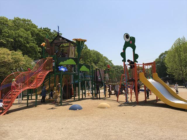 錦織公園「水辺の里」アスレチック型大型複合遊具