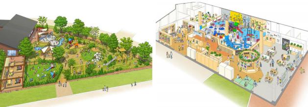 ボーネルンドプレイヴィル大阪城公園の遊び場(屋内外)