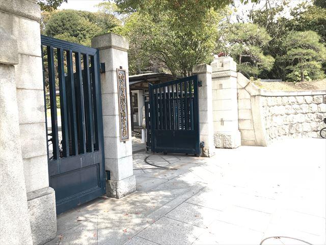 須磨離宮公園の正門前