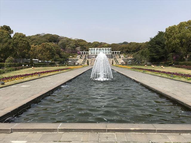須磨離宮公園の噴水広場