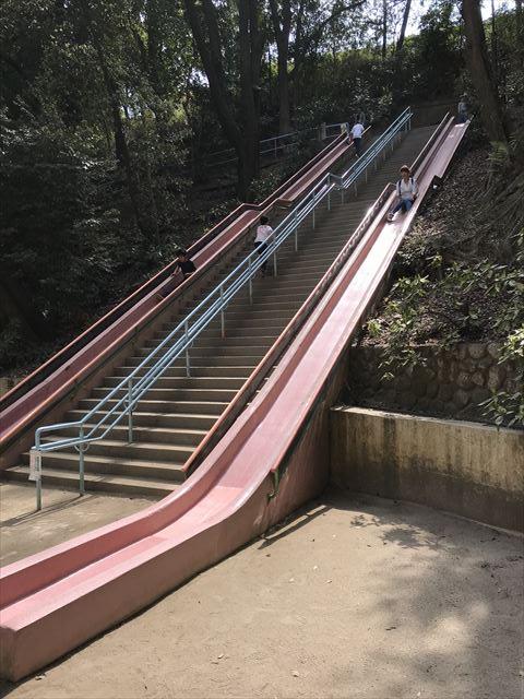 須磨離宮公園「児童公園」のロング滑り台