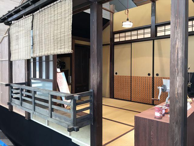 NHK大阪放送局で展示された「まんぷく」セット