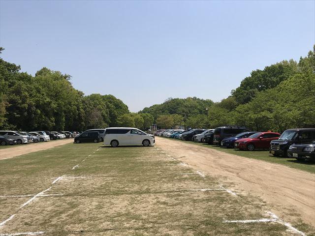 錦織公園の北臨時駐車場