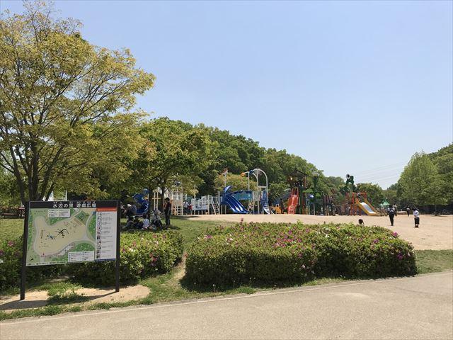 錦織公園「水辺の里」の遊具