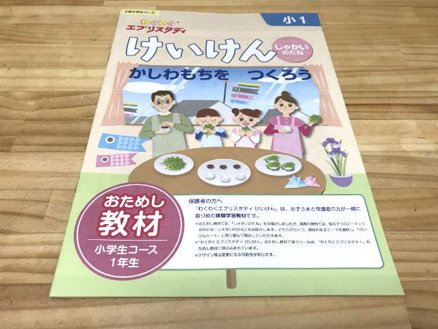 「Z会小学生コース(小1)」お試し教材「わくわくエブリスタディ・経験学習」