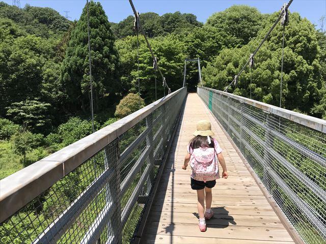 むろいけ園地のつり橋