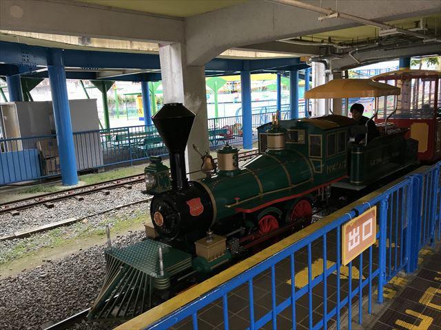 神戸王子動物園遊園地「こども汽車テキサス号」の先頭