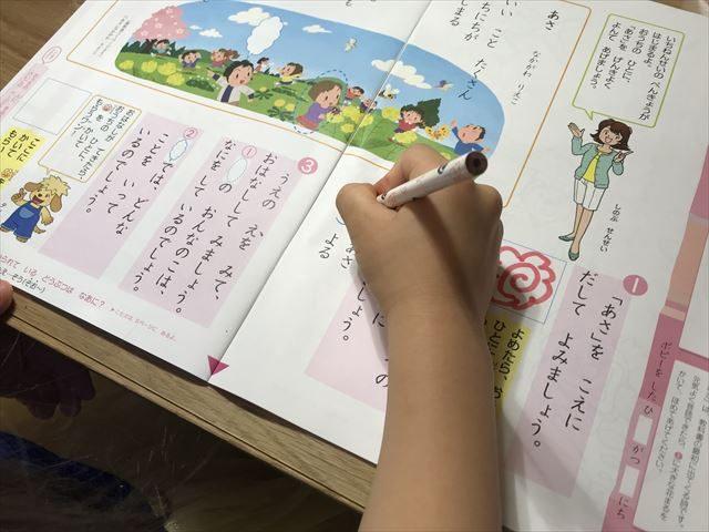 小学ポピー国語を学習する様子