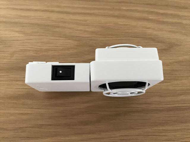 水槽冷却ファンGEX「アクアクールファン・レギュラー」本体横にあるスイッチ