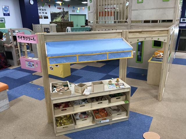 「アネビートリムパーク神戸」子供用キッチンとお店やさんごっこ