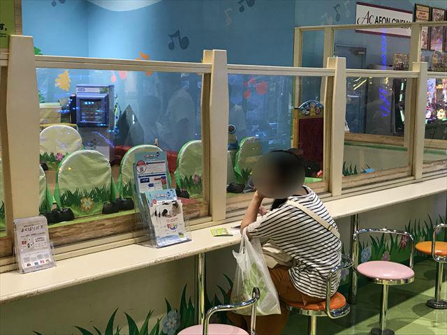 モーリーファンタジー「スキッズガーデン」で遊ぶ子供を親が外から見ている様子