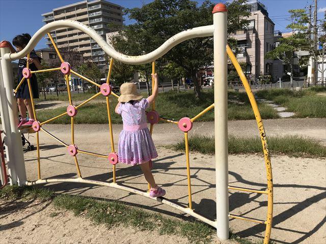 鳳公園の複合遊具「アスレチック風遊具」