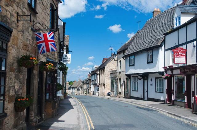 イギリスの田舎の街並み