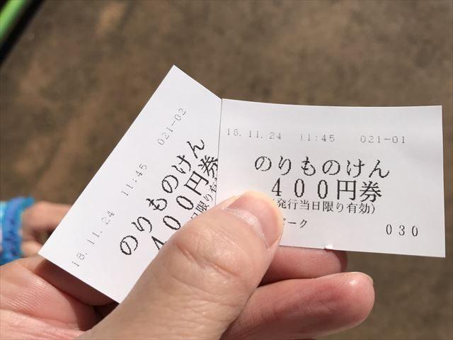 「ひらかたパーク」乗り物券