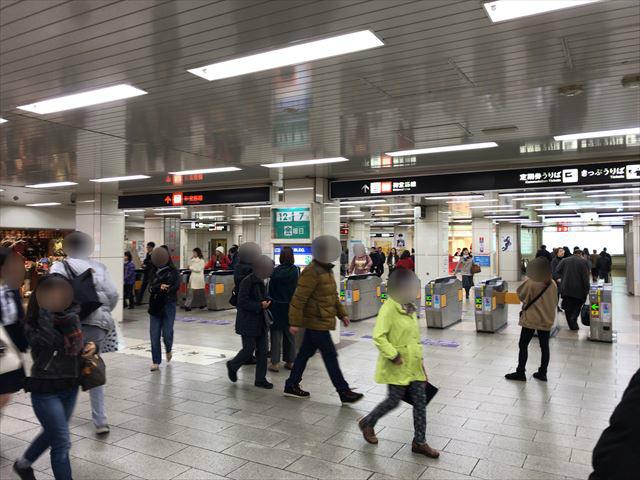 大阪メトロ御堂筋線「天王寺駅」西改札付近