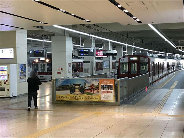 近鉄「大阪阿部野橋駅」ホーム