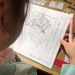 がんばる舎「gambaエース」の無料サンプル教材を学習する娘