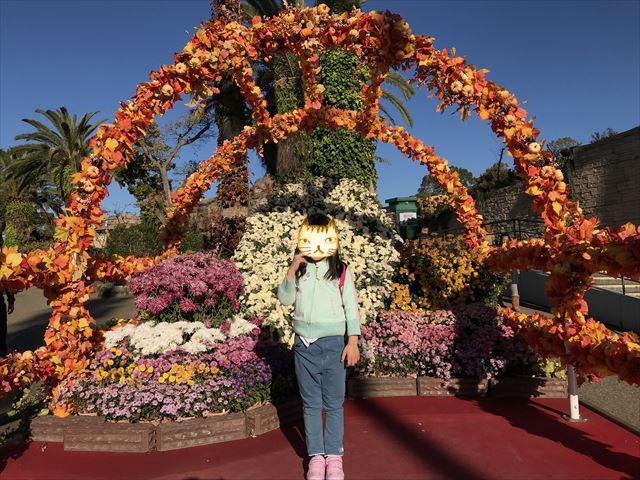ひらかたパークの写真スポット「花飾り」