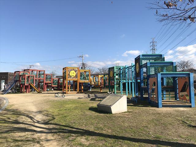 松原「新町南公園」大型複合遊具