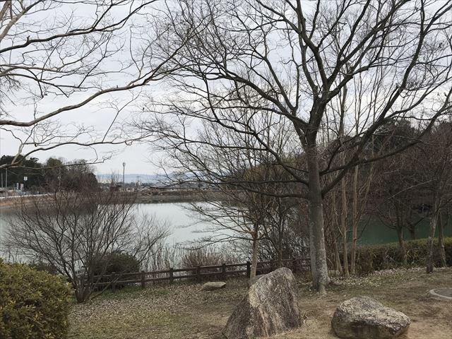 「馬見丘陵公園」前池