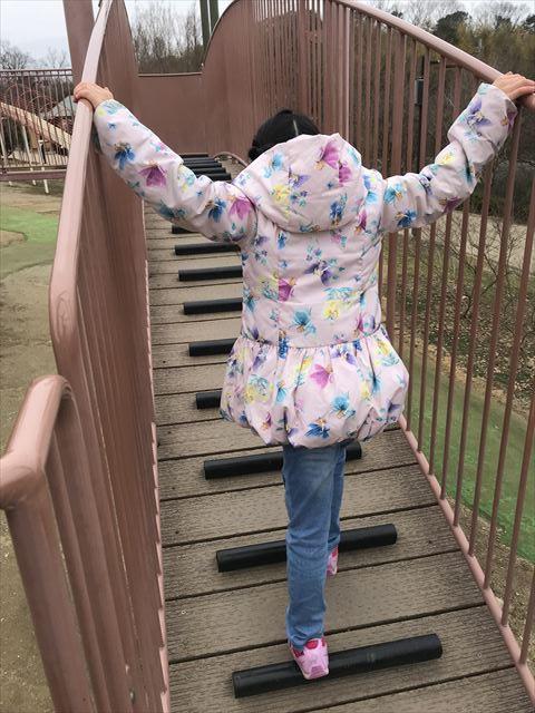 「馬見丘陵公園」大型遊具2階の梯子
