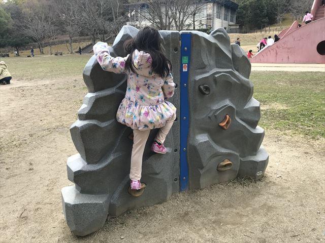 「大渕池公園・東地区」ミニロッククライミング遊具
