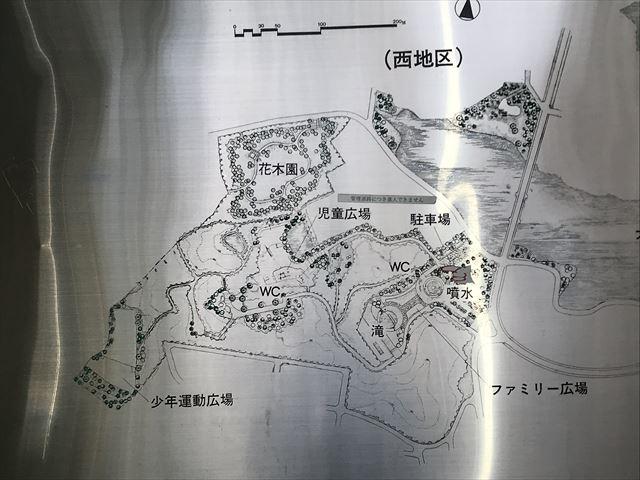 大渕池公園西地区の案内地図