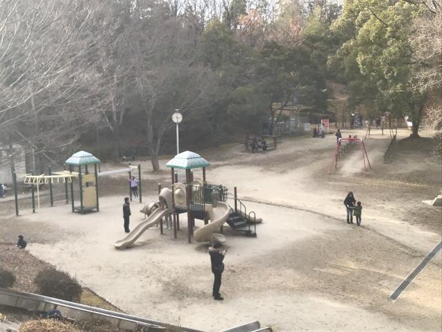 大渕池公園西地区の遊具全体の様子