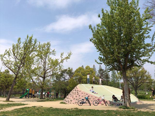 城北公園「遊具の丘ゾーン」