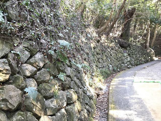 洲本城西登り石垣
