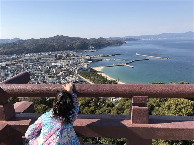 洲本城(三熊山)山頂から見える景色