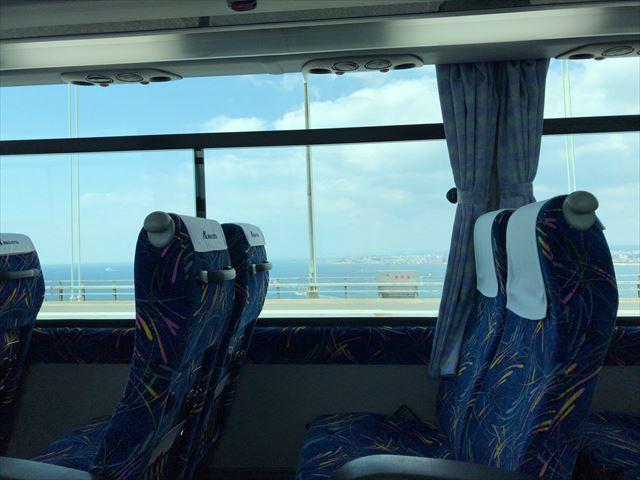 神姫バス(高速バス)から見た座席と淡路島の風景