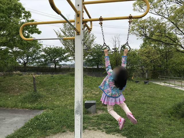 「水無瀬川緑地公園」ぶら下がり健康器具