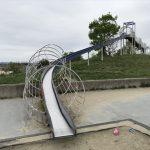 「水無瀬川緑地公園」のローラー滑り台