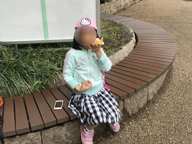 天王寺動物園のレッサーパンダ前にあるベンチ