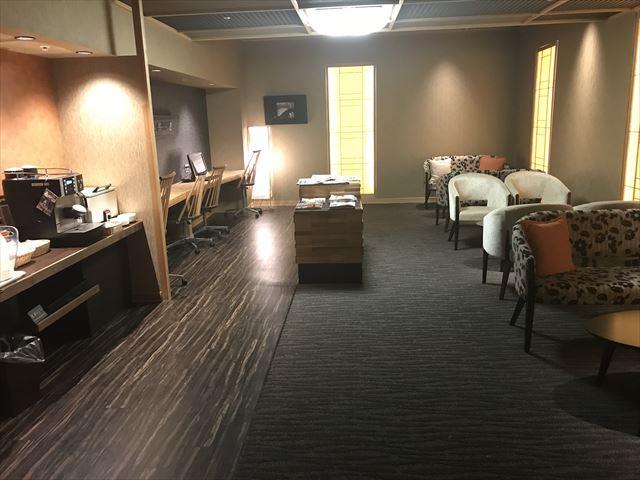 「夢海游 淡路島」和みフロアゲスト専用ラウンジ。室内の様子