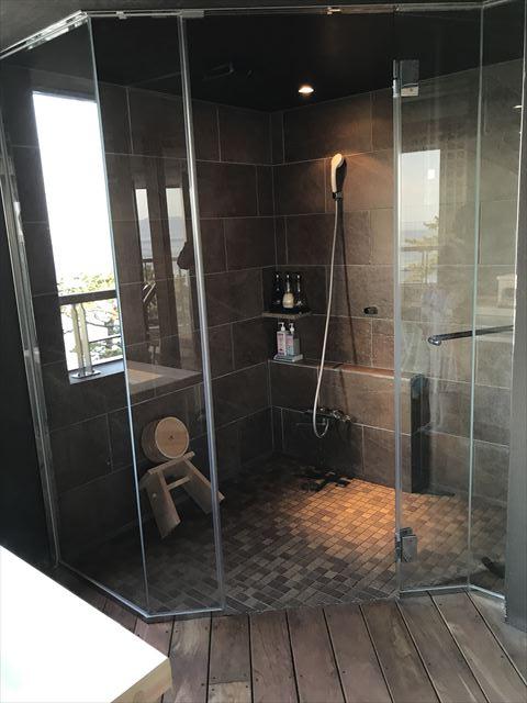 「夢海游 淡路島」貸切家族風呂「夢海」のシャワールーム