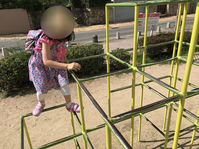 神戸「住吉公園」の複合遊具(幼児・小学生低学年向け)ジャングルジム