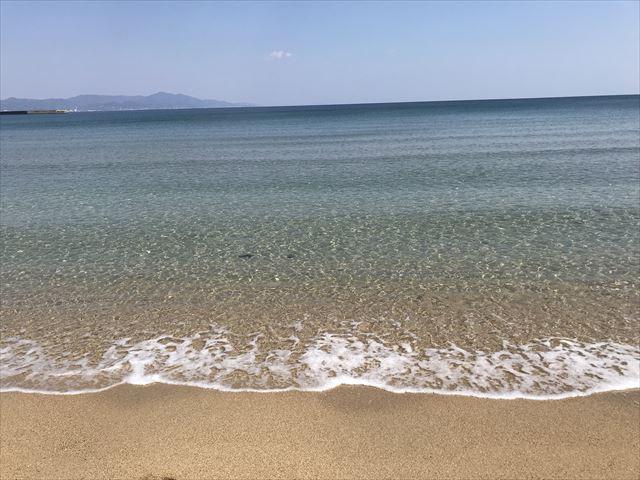 大浜海水浴場の海の水が綺麗