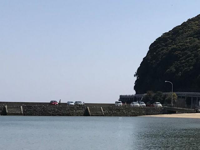 大浜海水浴場の駐車場