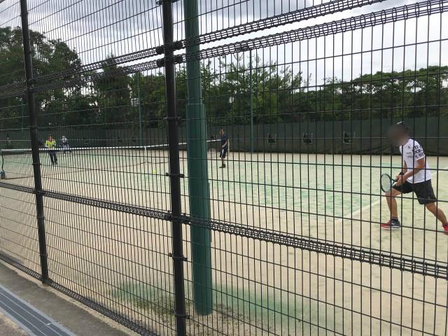 「男山レクリエーションセンター」テニスコート