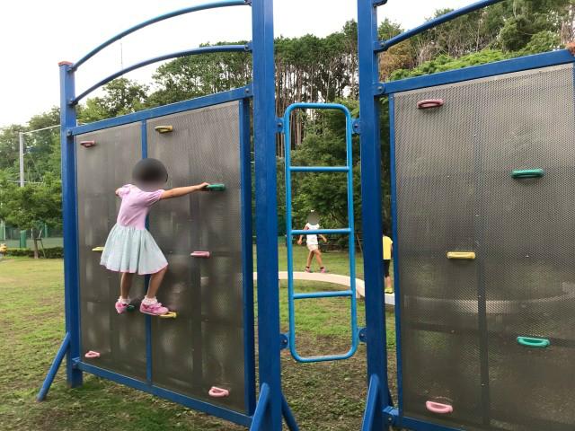 「男山レクリエーションセンター」ロッククライミング遊具