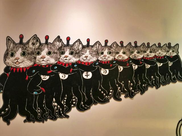 「ヒグチユウコ展CIRCUS」猫10匹
