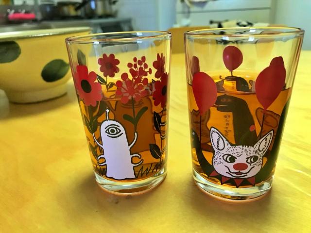 「ヒグチユウコ展CIRCUS」で購入したグラス