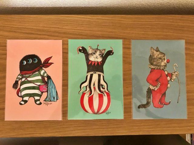 「ヒグチユウコ展CIRCUS」で購入したポストカード