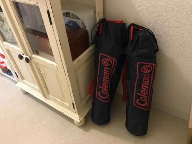 Coleman(コールマン)コンパクトクッションチェアを2つ購入